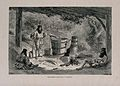 Three Wallachian men round a log fire with distilling appara Wellcome V0019346.jpg