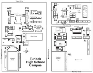 Turlock High School Map