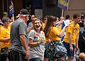 Tim Walz and Peggy Flanagan for Governor and Lt. Gov. at Twin Cities Pride Parade 2018 (41189840430).jpg