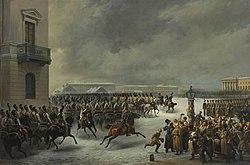 H Εξέγερση του Δεκέμβρη, πίνακας του Βασίλι Φιοντόροβιτς Τιμμ