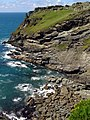 Tintagel Head from the mainland castle - geograph.org.uk - 937184.jpg