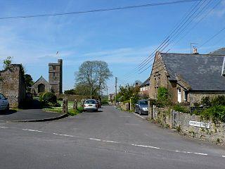 Tintinhull village in the United Kingdom