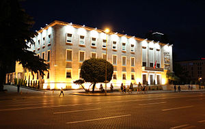 Prime Minister's Office (Albania) - View at night