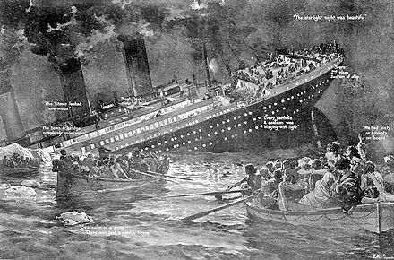 Illustration of the sinking of the Titanic Titanic the sinking.jpg
