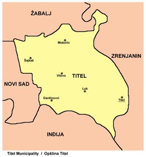 titel mapa Opština Titel   Wikipedia titel mapa