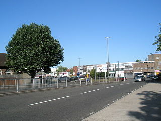 Landport Settlement area on Portsea Island, England