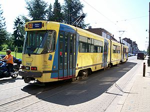 Brussels tram route 51 - PCC 7903 at Silence, 2008.