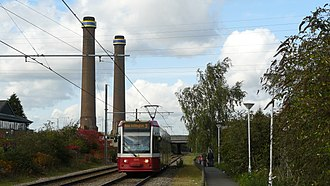 Croydon power stations - Croydon B's chimneys still stand today
