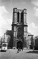 Tram at Saint Michaels Church, Ghent, Belgium (7829486962).jpg
