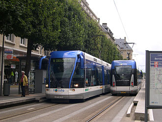 Bombardier Guided Light Transit - Much like trams, GLT vehicles can dock with low station platforms for level boarding.
