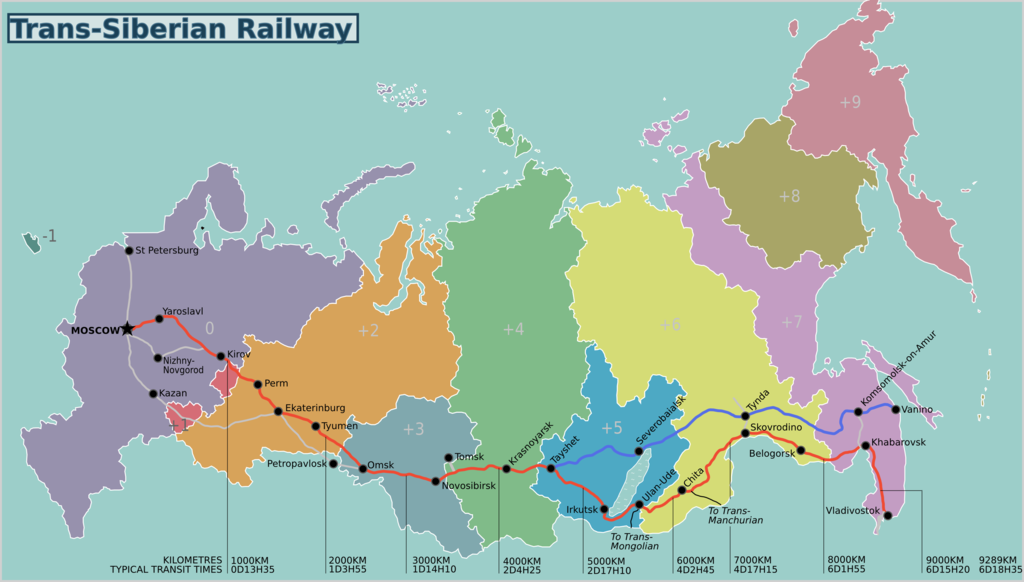 Trans Siberian Railroad Map Adventures on the Trans Siberian Railway   Map, Guide & Itinerary Trans Siberian Railroad Map