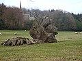 Tree stump at Felton Park - geograph.org.uk - 1802386.jpg