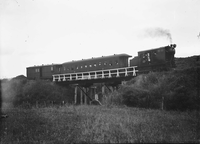 Trial run of Clayton D class locomotive, no 1 at Silverstream ATLIB 191156.png