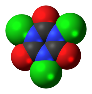 Trichloroisocyanuric acid - Image: Trichloroisocyanuric acid 3D spacefill
