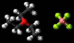 Triethyloxonium tetrafluoroborate - Image: Triethyloxonium tetrafluoroborate 3D ball