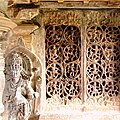 Tripurantakesvara Temple Sculpture and Grill work at Balligavi.jpg