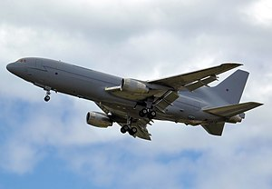 Future Strategic Tanker Aircraft - A Royal Air Force Lockheed TriStar, converted  L-1011-500 used as tanker-transports for over 20 years by the time of the new programme