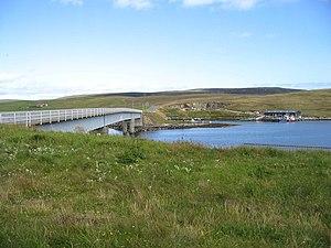 The bridge from West Burra to Trondra