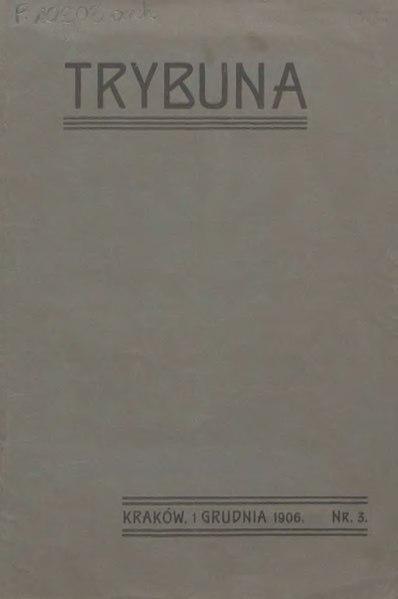 File:Trybuna (1906) nr 3.djvu