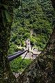 Tungmen Power Plant, Eastern Power Station, suspension bridge over the Mugua River, Xiulin Township, Hualien (Taiwan).jpg