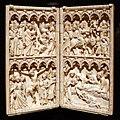 Turingia o sassonia, dittico con scene della vita di cristo, avorio, 1350-75 ca.jpg