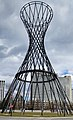 The Mae West (sculpture) is a doubly ruled surface hyperboloid structure, Munich, Germany, 2011.