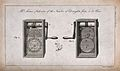 Two illustrations of a machine for measuring the draughts fr Wellcome V0023523.jpg