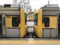 Two trains at Alcântara train station, Lisboa (33723898740).jpg