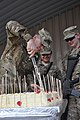 U.S. Army Lt. Gen. Jeffrey Talley, left, the chief of the Army Reserve, cuts a cake at Kandahar Airfield in Kandahar province, Afghanistan, April 26, 2013, during a ceremony commemorating the component's 130426-A-ZZ999-006.jpg