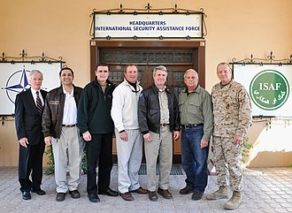 Michael McCaul - Congressman McCaul led House of Representatives Committee on Homeland Security to visit ISAF Headquarters