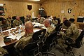 U.S. Marine Corps Sgt. Maj. Bryan B. Battaglia, center, the senior enlisted adviser to the Chairman of the Joint Chiefs of Staff, discusses operations with key leaders with the 4th Brigade Combat Team, 1st 130504-A-CL397-058.jpg