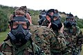 U.S. Marines, of III Marine Expeditionary Force, participate in chemical, biological, radiological and nuclear (CBRN) training where Marines conduct a series of tests while wearing their protective gear before 111222-M-LY681-022.jpg
