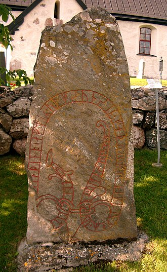 Frögärd i Ösby - Uppland Runic Inscription U 203 beside Angarn Church in Uppland