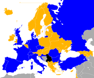 UEFA Euro 1996 qualifying - Image: UEFA Euro 1996 Qualifiers Map