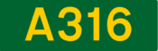 A316 road shield