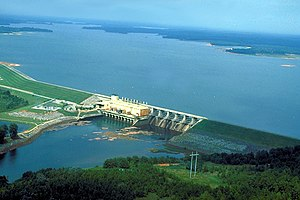 West Point Lake - Image: USACE West Point Dam and Lake