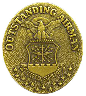 Outstanding Airman of the Year Ribbon - Outstanding Airman Badge