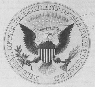 Bailey Banks & Biddle - Image: US Presidential Seal 1915Print Crop