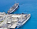 USS Emory S. Land (AS-39) and USS Frank Cable (AS-40) moored at Guam on 2 March 2017.JPG