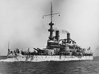 Littleton Waller - USS Indiana (BB-1) around the time of the Spanish–American War