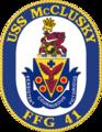 USS McCLusky FFG-41 Crest.png