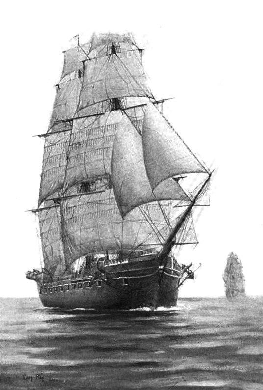 USS Portsmouth-Full Sail