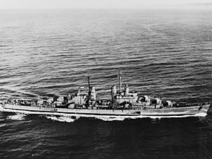 USS San Diego underway in 1944