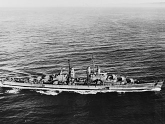 Most decorated US ships of World War II - USS San Diego underway in 1944