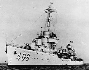 Sims-class destroyer - Image: USS Sims (DD 409) 19 N 20822
