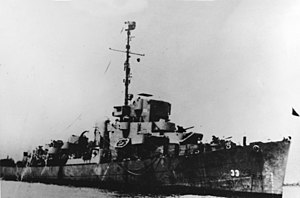 USS Tisdale (DE-33), circa in August 1945 (NH 79821)