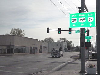U.S. Route 395 - Image: US 20 & US 395, Oregon Route 78 Intersection