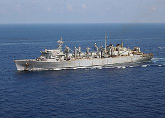 USNS Supply (T-AOE-6) - Image: US Navy 020919 N 3653A 001 MSC USNS Supply steams in the Med