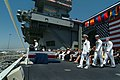 US Navy 030712-N-2383B-163 Adm. Robert J. Natter, Commander, U.S. Atlantic Fleet-Commander, U.S. Fleet Forces Command calls to set the first watch, led by Lt. Cmdr. Alvin A Plexico, Jr., Junior Officer of the Year.jpg