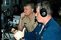US Navy 031105-N-3725R-003 During the Battle Group Inport Exercise (BGIE) Lt. William Neiger, weapons officer aboard USS Vella Gulf, checks for hostile and friendly contacts in a virtual combat environment.jpg